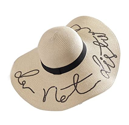 Buy Fashion Sequin Letter Wide Brim Sun Hat (Beige) Online at Low Prices in  India - Amazon.in 8cc32200ccd