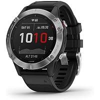 Garmin GM-010-02158-35 Fenix 6 Smartwatch, Silver with Black Band