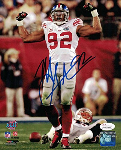 Signed Michael Strahan Photo - 8x10 SB XLII 21181 - JSA Certified - Autographed NFL (Michael Strahan New York Giants)