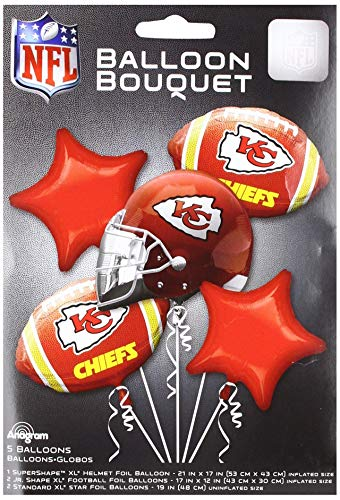 Anagram 31417 Kansas City Chiefs Balloon Bouquet Multicolored -
