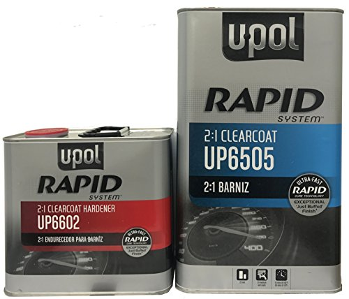 U-Pol 6505 Rapid System Exceptional High Gloss Clearcoat 5 Liters with Hardener by U-Pol