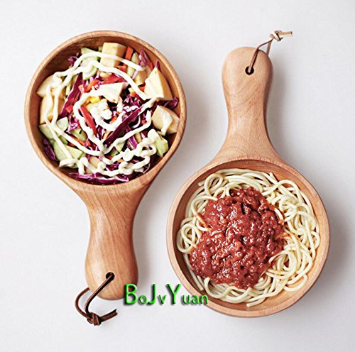 Whole Pickled (BOJUYUAN Japanese and Korean style, whole wood, pickled vegetable bowl, long salad bowl, beech, no lacquer, dim sum dish, western style wooden tableware)