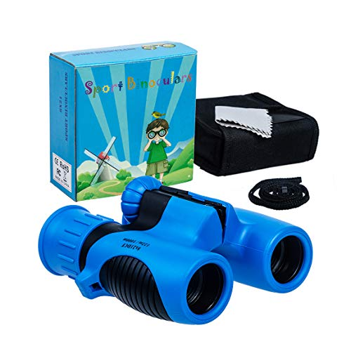 Highttoy Kids Binoculars,8x21 Magnification Shockproof Binoculars for Boys Age 3-12 Birthday Gifts High Resolution Compact Binoculars for Kids Bird Watching Hiking Outdoor Games for Boys Teens