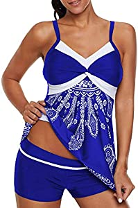 Sweepstakes: Allimy Women Plus Size Bathing Suit Two Piece Swimsuit Tankini...