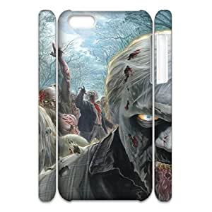 Iphone 5C Walking Dead 3D Art Print Design Phone Back Case Personalized Hard Shell Protection HG033255