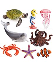 8pcs Sea Animal Figures Realistic Ocean Animal Figurines Toy Playset for Kids Cake Toppers Decoration