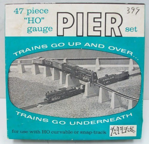 Pier Set (47Pc Set) HO Scale Atlas Trains by Atlas Model (Atlas Ho Scale Pier)