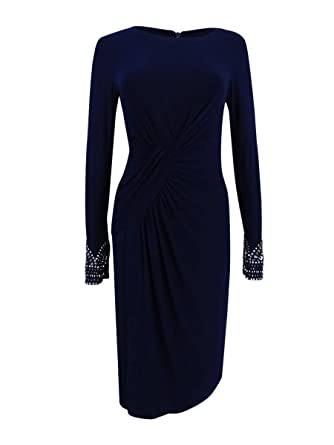 e7872b37 Image Unavailable. Image not available for. Color: Vince Camuto Women's Beaded  Sheath Dress ...