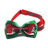 1 Pack Bow Tie Necktie With Snowflakes Pet Collar Christmas Dogs Puppy Cats Party Soft Elastic Bell Tag Paramount Popular Wide Reflective Safety Breakaway Training Camo Kitten Dog Collars, Type-02