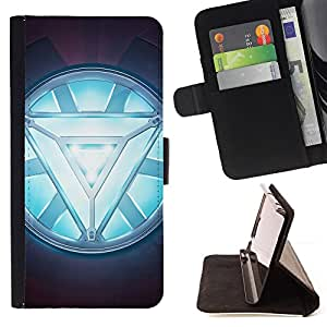 For LG G3 ARC REACTOR GLOW Leather Foilo Wallet Cover Case with Magnetic Closure
