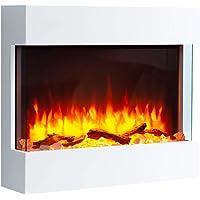 RICHEN - Chimenea eléctrica, modelo Alva, chimenea eléctrica de pared con calefacción,…