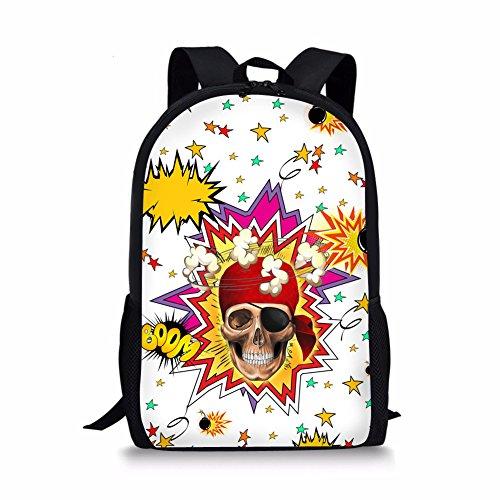 Coloranimal Stylish Skull Prints Children School Bags Travel Backpacks