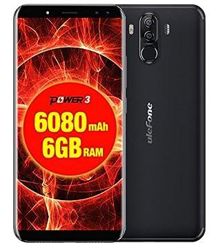 Ulefone Power 3 - 6.0 pulgadas FHD (relación 18: 9) Corning Gorilla Glass 4 Android Smartphone, Octa Core 2.0GHz 6GB + 64GB, Reconocimiento facial, ...