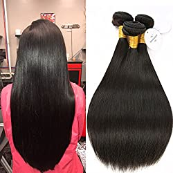 8A Brazilian Virgin Hair Straight 3 Bundles 18 20 22inch Natural Color Mink Brazilian Remy Hair Weave Bundles Straight Human Hair Extensions Double Wefts