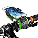 HITSAN ROCKBROS Multifunction Bicycle Phone Holder Bike Light-bluetooth Audio Powerbank Cycling Ring Bell One Piece