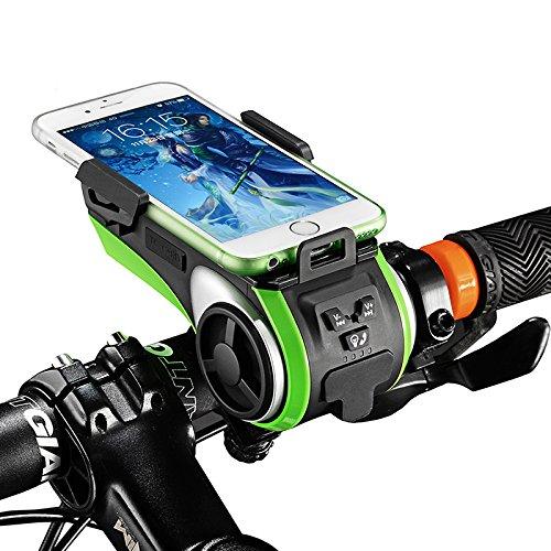 HITSAN ROCKBROS Multifunction Bicycle Phone Holder Bike Light-bluetooth Audio Powerbank Cycling Ring Bell One Piece by HITSAN (Image #4)