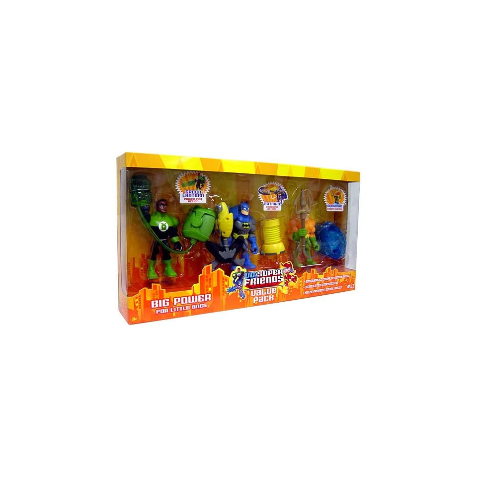 DC Super Friends Action Figure 3 Pack Green Lantern, Batman and Aquaman