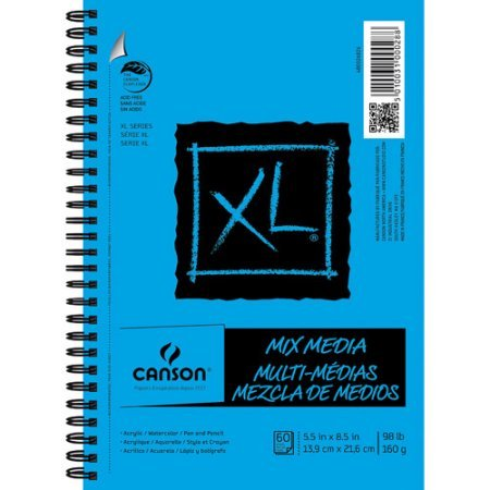 XL Mix Media 5.5'' x 8.5'' Pad, 50 Sheets by Canson