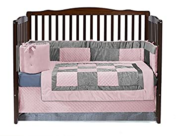 Amazon.com: Baby Doll Bedding Croco Minky cuna Set, Color ...