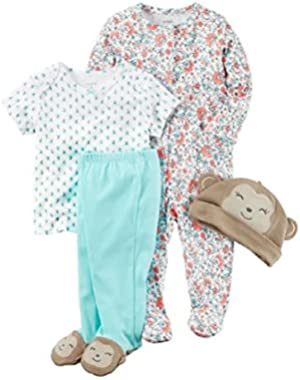 Carters Clothing Set for Baby Girl Size Preemie 4 Pieces