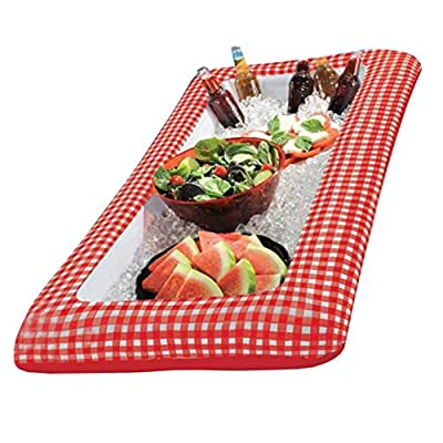 "Amscan395674 Picnic Party Inflatable Cooler, 4.5"" x 24\"" x 50\"", red/white: Kitchen & Dining [5Bkhe1805171]"
