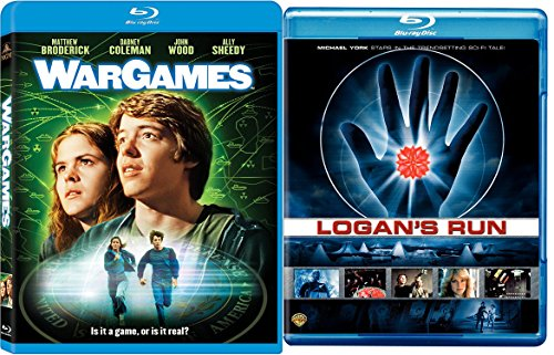 War Games Blu Ray + Logans Run 70's & 80's Sci-Fi Move Double Feature Set