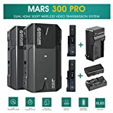 Hollyland Mars 300 PRO Standard 5G Wireless HDMI Video Transmission System,Transmitter and Receiver Kit Support HD 1080P 300 Feet for DSLR Mirrorless Camera with 2 Battery Pack/AC Charger