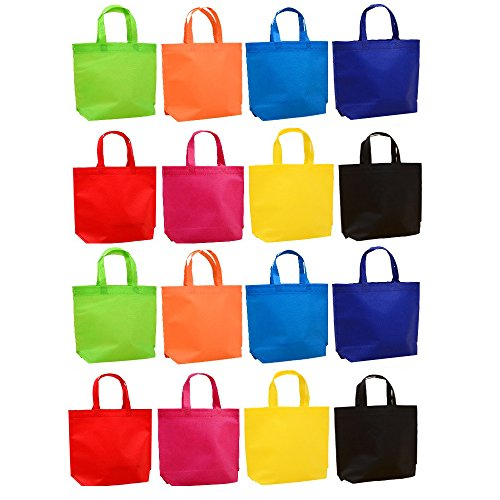(Assorted Colors Gift Tote Bags, Pack of)