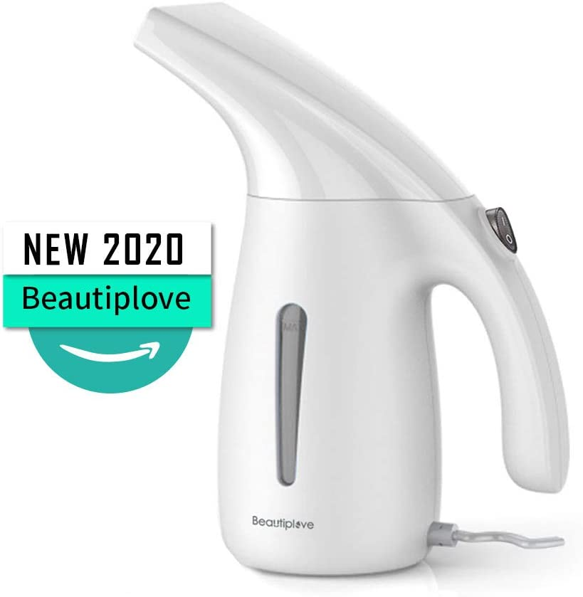 Beautiplove Steamer for Clothes Dual Voltage Travel Garment Steamer Handheld Portable with Travel Pouch White Beautiplove Travel Clothes Steamer Dual Automatic Shut-Off Safety 2018 Design