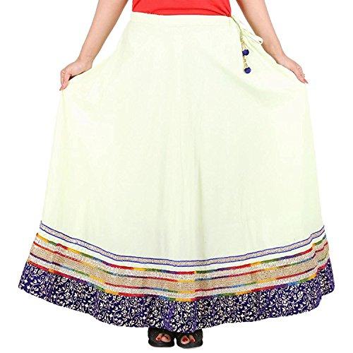 Indian Handicrfats Export Mesmerising Green Cotton Solid Skirt