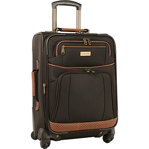 Tommy Bahama Luggage Expandable Spinner Carry  Dark Brown