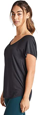 Rockwear Activewear Women's Strappy Back Tee Black 18 from Size 4-18 for T-Shirt Tops