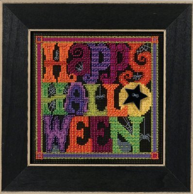 Happy Halloween Beaded Counted Cross Stitch Kit Mill Hill MH141622 Buttons & Beads 2016 Autumn]()
