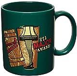 ICUP a Christmas Story it's a Major Award Leg Lamp Ceramic Mug, 11 oz, Green