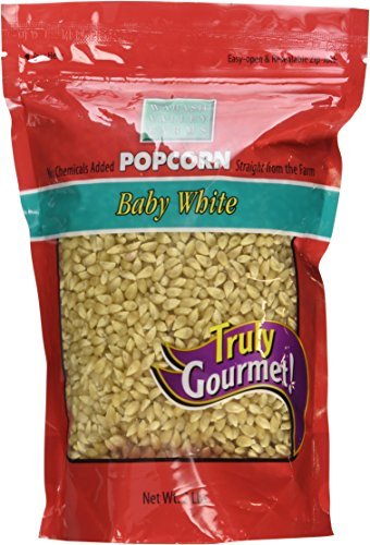 Wabash Valley Farms Amish Country Gourmet Popping Corn, Baby White, 2-Pound Bag - White Popping Corn