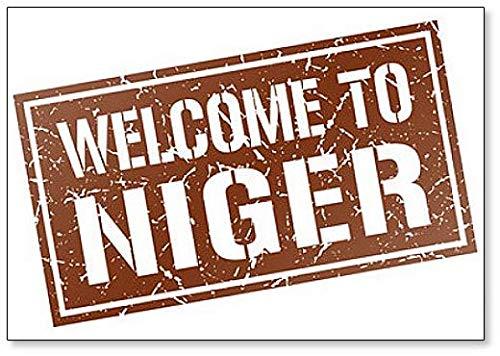 Welcome to Niger Stamp Illustration Fridge Magnet