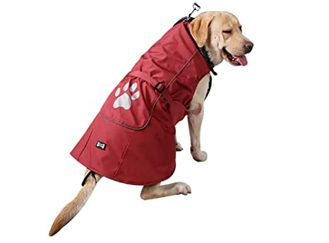 Morezi Perro Mascota Gato Invierno Cálido Abrigo Chaqueta Impermeable Ropa Piel sintética Collar para Pequeño Mediano
