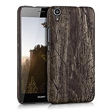 kwmobile Hard case Design vintage wood for Huawei Y6 in dark brown