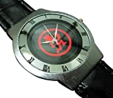 Happy New Year Gifts Wristwatches Leather Band USFSE50 Ultra Slim Leather Watch / ICP (Insane Clown Posse) Juggalos Hatchet Man Red