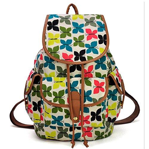 Escuela Colegio mochila mochilas deportes mochila de lona niñas/estudiantes/mujeres Multicolor