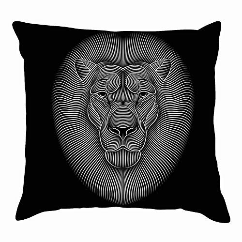 Throw Pillow Cushion Cover, Funny African Animals Wildlife Clip Art Decorative Square Accent Pillow Case, 18 X 18 Inch]()