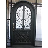 mcm3 single wrought iron entry dooraged copper