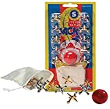Metal Jacks and Rubber Ball with Cloth Storage Bag, 3 Sets; Old Fashioned Classic Floor Game