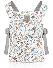 GAGAKU Doll Carrier Front and Back Soft Cotton for Baby Over 18 Months, Garden Pattern