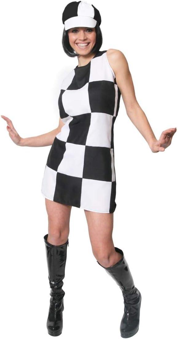 Disfraz de los años 60 para mujer (con sombreros), diseño a ...