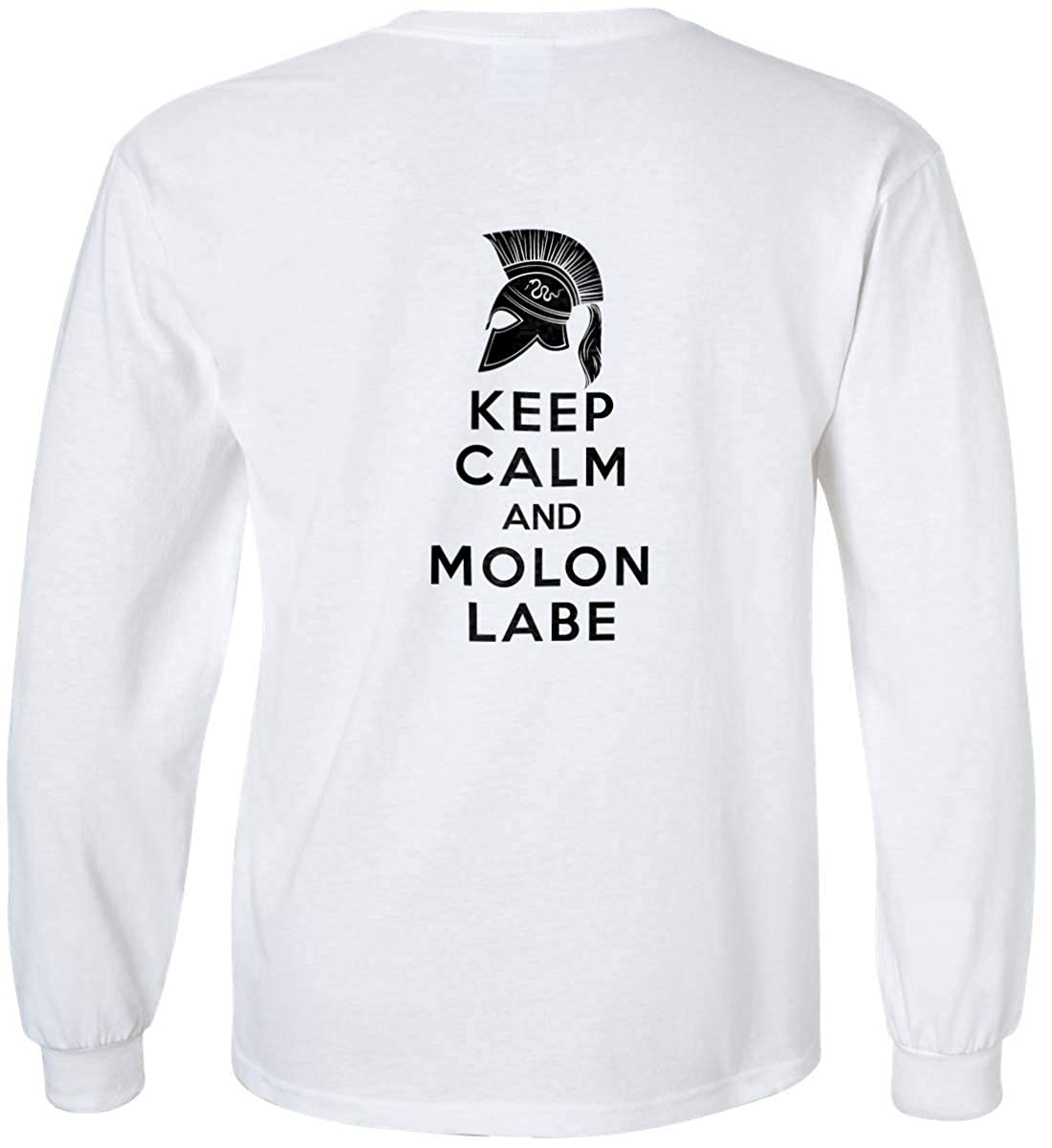 Sons Of Liberty Keep Calm and Molon Labe Black Print Long Sleeve Shirt