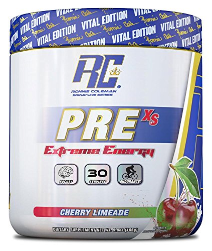 Ronnie Coleman Signature Series Pre XS Extreme Energy Pre Workout, Cherry Limeade, 8 Ounce