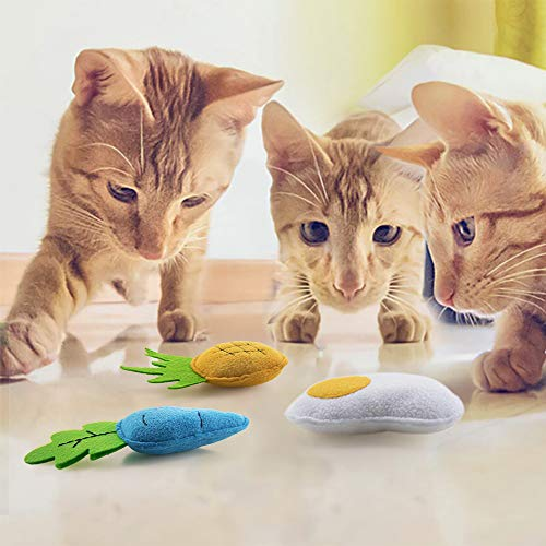 AWOOF Catnip Toys for Cats, Natural Catnip Kitten Toys Cat Toys Set 8