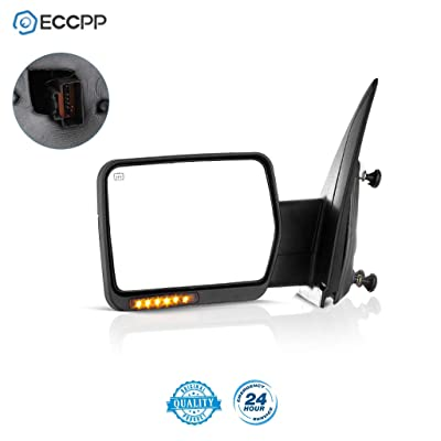 ECCPP Power Heated Turn Signal Puddle Lamps Driver Side Mirror Replacement fit 2007-2014 Ford F-150 Pickup Left: Automotive