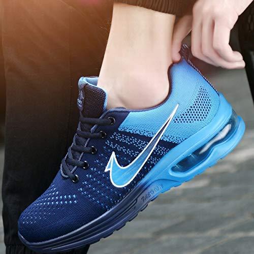 aller Athlétique Basket ball Mou Jogging Running Tout Pour Loisirs Respirant Baskets Blue Unisexe Chaussures Le Printemps En Fond Coussin Automne Air Plein 5xXI0Fwxnq